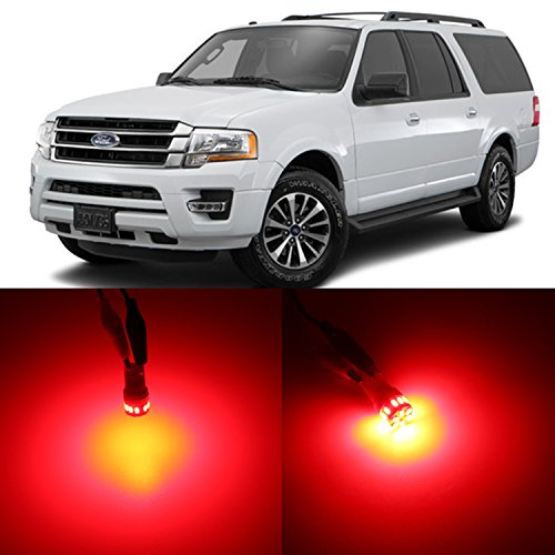 Alla Lighting 2pcs Super Bright 912 2825 168 Red LED Bulbs Center High Mount Stop ( 3rd Brake) Light Replacement for 1997 ~ 2014 Ford Expedition