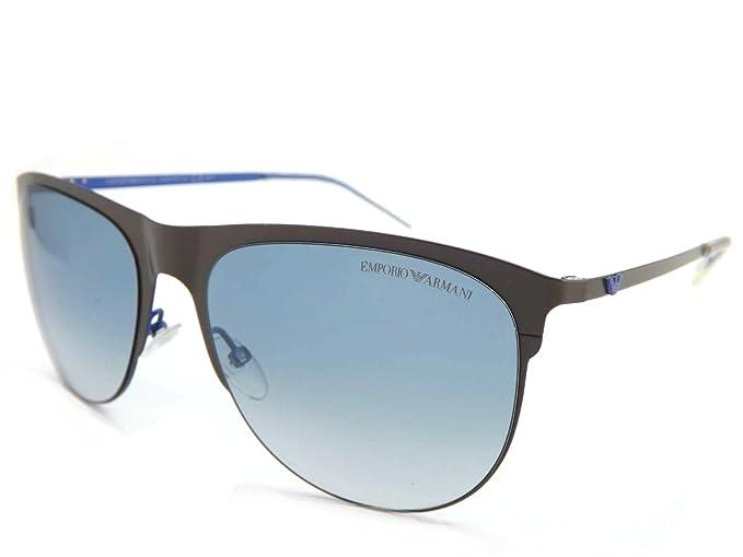 6e91f9a523 Emporio Armani EA9853 P7V-56 - Gafas de sol de estilo clásico, color gris y  azul: Amazon.es: Ropa y accesorios