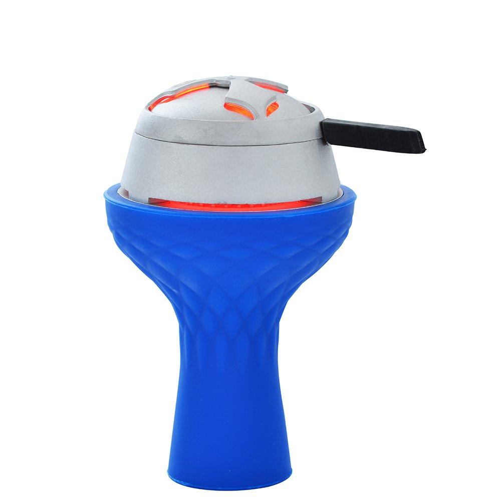Hookah Bowl Set - Silicone 7 Holes Phunnel Bowls + Lotus Charcoal Holder Shisha Heat Management Bundle