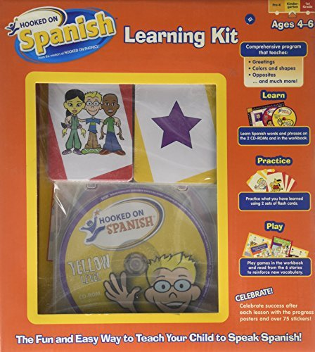 Hooked on Spanish Learning Kit (The Fun and Wasy Way to Teach your Child to Speak Spanish) Ages 4-6 [並行輸入品] B01N1VS066