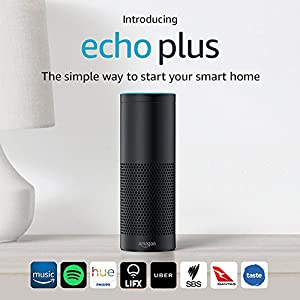 Introducing Echo Plus – With built-in smart home hub (Black)