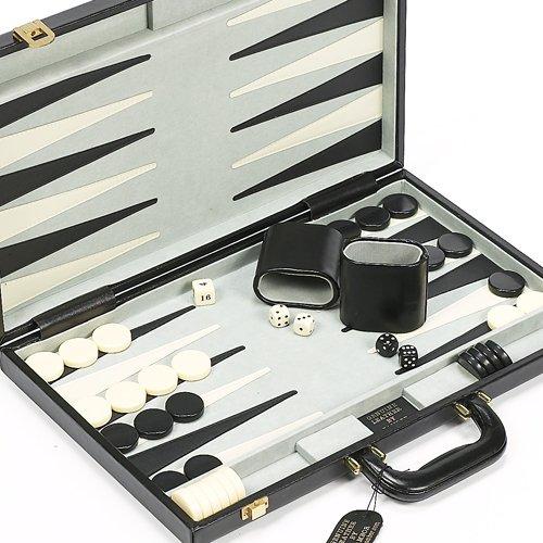 Park Avenue Genuine Leather Backgammon Set