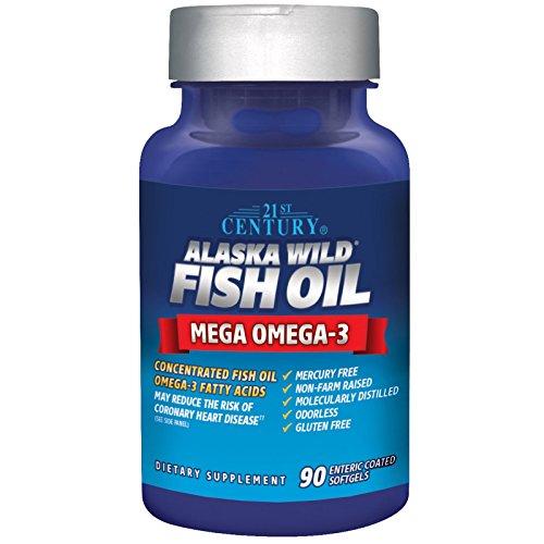 21st Century, Alaska Wild Fish Oil, 90 Enteric Coated Softgels - 2pc