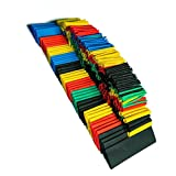 SODIAL(R) 127 PCS Colorful Assorted Heat Shrink Tube 4 Colors 7 Sizes Tubing Wrap Sleeve Set Combo
