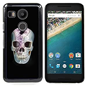 - Minerals Marie Skull Black Amethyst - - Snap-On Rugged Hard Cover Case Funny HouseFOR LG Google Nexus 5X