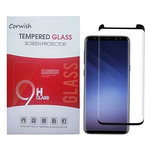 Galaxy S9 Plus Screen Protector, 3D Curved Edge To Edge Case Friendly Full Coverage HD Clear Tempered Glass Protective Cover Film for 9Plus Samsung S9+ Phone (For S 9+, not for S 9) (Black-S9 plus-2)