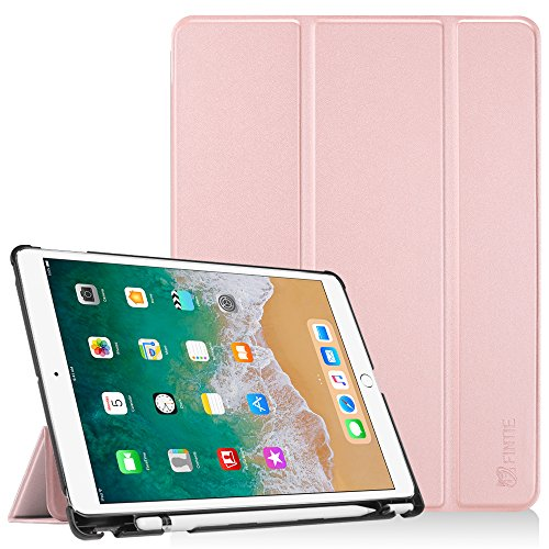 Fintie iPad Pro 10.5 Case with Built-in Apple Pencil Holder - [SlimShell] Ultra Lightweight Standing Protective Cover with Auto Wake/Sleep for Apple iPad Pro 10.5 Inch 2017 Tablet, Rose Gold