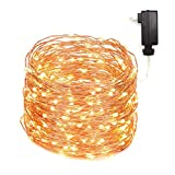 ZAECANY LED String Lights 99ft 300 LEDs Fairy String Lights for Bedroom, Patio, Indoor/Outdoor Waterproof Copper Lights for Birthday, Wedding, Party Starry Lights UL Listed Warm White