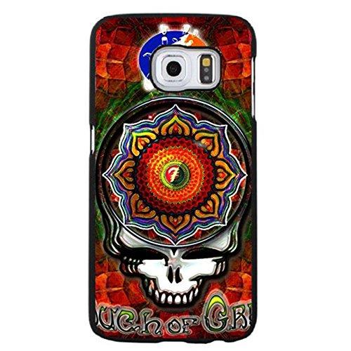 Fashionable Bright Pattern Psychedelic/Country Rock Band Grateful Dead Phone Case Cover for Coque Samsung Galaxy S6 Edge Plus Folk Album Rock Style,Cas De Téléphone