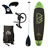 Aqua Marina A110163GNM Inflatable Stand-up Breeze Paddle Board with Paddle