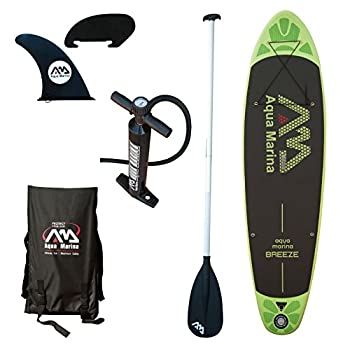 Image of Aqua Marina A110163GNM Inflatable Stand-up Breeze Paddle Board with Paddle Stand-Up Paddleboards