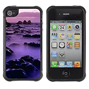 Pulsar Defender Series Tpu silicona Carcasa Funda Case para Apple iPhone 4 / iPhone 4S , Nature Pink Mist