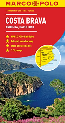 Costa Brava Marco Polo Map (Marco Polo Maps)