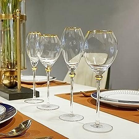 PPuujia 2 tipos de copas de vino de estilo real, copa de vino de oro, 200 a 400 ml, color 400 ml