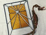 Handmade Stained Glass Cross Panel Easter Suncatcher Window Spiritual Ornament