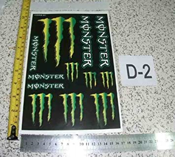 Monster Energy Car Bike Helmet Decal Sticker Sheet Set