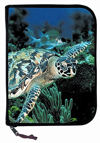 New Scuba Diving 3 Ring Zippered Log Book Binder with FREE Generic Log Insert ($12.95 Value) - Sea Turtle (Amphibious Outfitters) (Ring Amphibious)