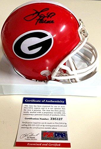 - David Pollack Signed Georgia Bulldogs Mini Helmet Coa Z95127 - PSA/DNA Certified