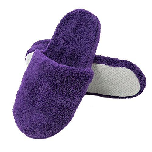 Alexander House Slippers Shoe Rossa Fleece Purple Coral Del Womens ZSWZfqgr