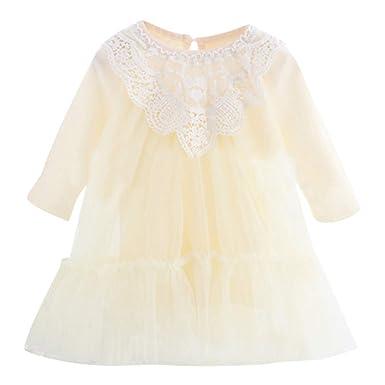 e0ca788119447 BaZhaHei Robe Bébé Fille Anniversaire Enfant Dentelle Tulle Tutu Princesse  Robe de Soirée Bapteme Vêtements Tenues