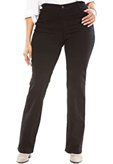 a21d8ae1b576e Woman Within Plus Size Bootcut Smooth Waist Jean at Amazon Women s ...