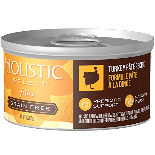 Holistic Select Natural Wet Grain Free Canned Cat Food, Turkey Pâté Recipe, 3-Ounce Can (Pack Of 24) (Pack Cat Eagle Food)