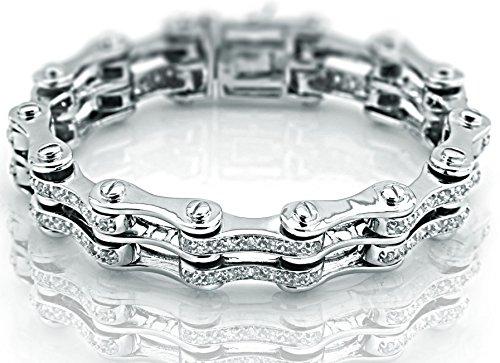 Sterling Bracelet Zirconia Platinum Manufacturers