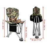 GEERTOP Folding Tripod Camping Chair Stool with Back Rest...