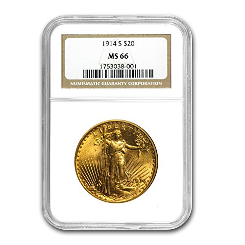 1914 S $20 St. Gaudens Gold Double Eagle MS-66 NGC G$20 MS-66 NGC