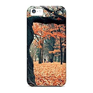 Fashionable Style Case Cover Skin For Iphone 5c- Crimson Forest In Pol