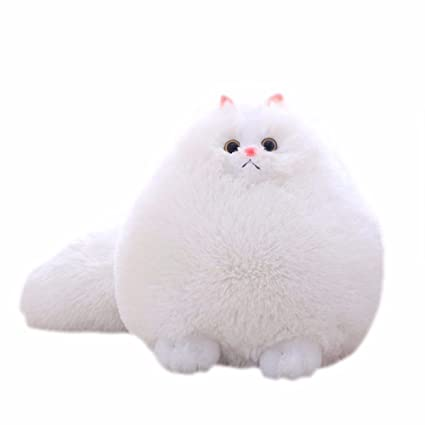 Juguete, paolian niños peluches gatos acolchados juguetes animales sofá decoración, plateado