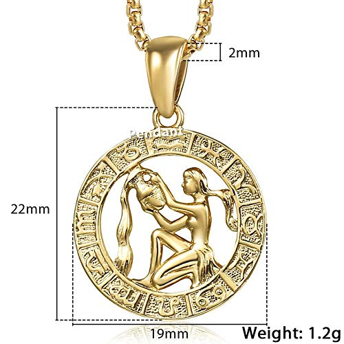 BlueDragon10 Necklaces /& Pendants 12 Horoscope Zodiac Sign Pendant Necklaces for Women Men Gold Aries 12 Constellations Jewelry