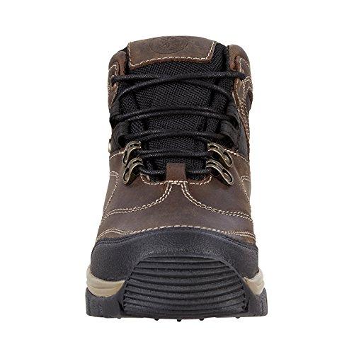 All Terrain Boot »TRAIL WP« bequeme Stiefelette aus Rindleder | Reitschuh mit robuster Gummisohle und ORTHOLOITE Footbed | Waterproof | Stiefel in Größen 35-45 | Farbe: Schwarz-braun schwarz-braun