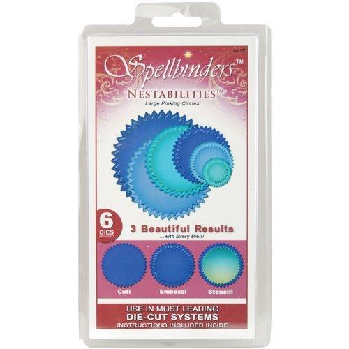 (Spellbinders S4-170 Nestabilities Large Pinking Circles Die Template)