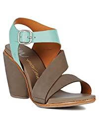 Emu Australia Dawn Womens US Size 9 Tan Leather Dress Sandals Shoes