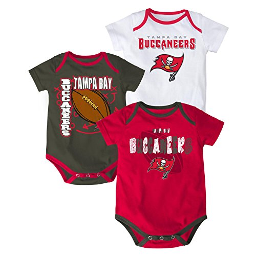 (NFL Tampa Bay Buccaneers Bodysuit Set, Youth 24 Months, Red)