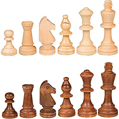 Best Chess Set Gugertree Wood Weighted Chess Pieces – Pieces Only – No Board - 3.5 Inch King