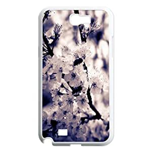 Cherry White Flowers 2 Samsung Galaxy Note 2 Cases, Vety {White}