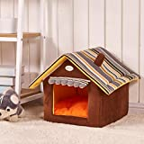 DDLBiz Foldable Pet House Pet Bed Dog Cat Soft Kennel Mat Pad Warm Puppy Cushion Basket
