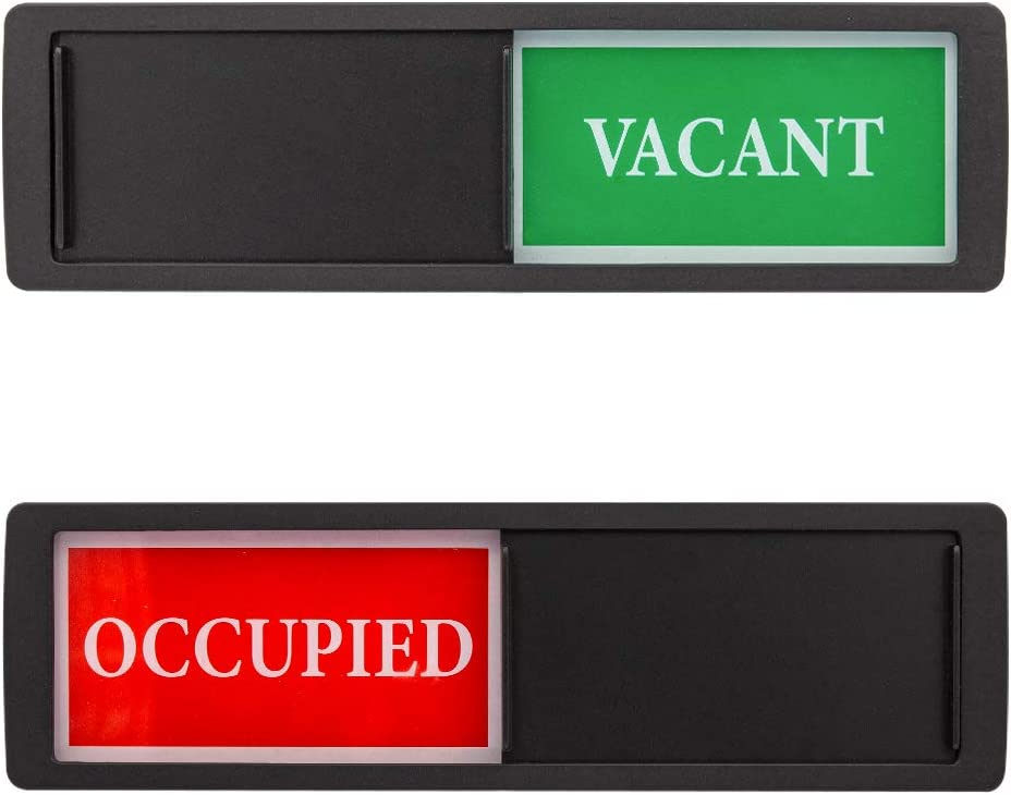 Privacy Sign - Vacant Occupied Sign for Home Office Restroom Conference Hotel Hospital - Black