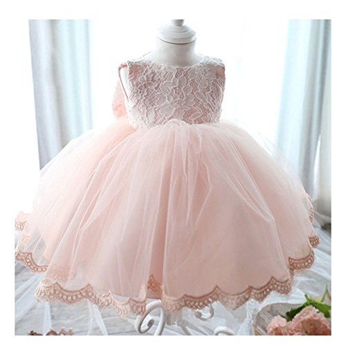 KAKA(TM Lovely Girls One Piece Dress Flower Girl Dresses Pink Dress skirt Princess Skirt Tutu Skirt Party Costume Dress With Bowknot (Lg Optimus F70)