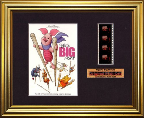Piglet's Big Movie Disney - Framed filmcell Picture (g)