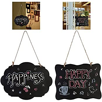 Amazon Com Black Vintage Style Chalkboard Sign Message