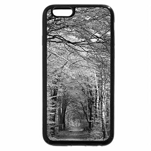 iPhone 6S Plus Case, iPhone 6 Plus Case (Black & White) - Yellow road