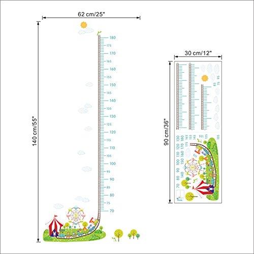 Medidor altura ni/ños pegatina pared puerta vinilo decorativo circo para cuartos bebes ni/ños juegos guarderias colegios de CHIPYHOME