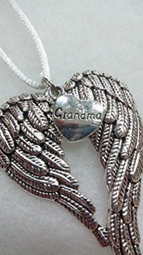 (Grandma Memorial Angel Wings Christmas Ornament In Memory of Grandmother Sympathy Gift )