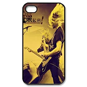 C-Y-F-CASE DIY Design Rock and Roll Pattern Phone Case For Iphone 4/4s