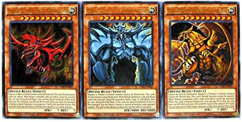 (Konami YuGiOh Legendary Decks II Ultra Rare Yugi's God Card Set LDK2-ENS01, LDK2-ENS02 & LDK2-ENS03)