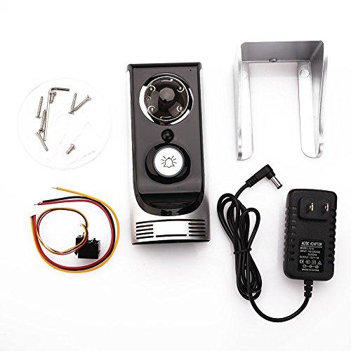 Rosepoem Cámara De Video Inalámbrica Cámara De Seguridad, Timbre De Visión Nocturna Digital Impermeable con Altavoz Y...