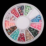 10sets/lot, 120 Pcs Multicolor Butterfly Fimo Nail Art Nail Tips Slice Decoration Wheel